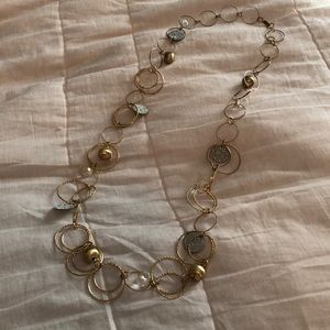 Jewelry - Mixed metal and crystal necklace